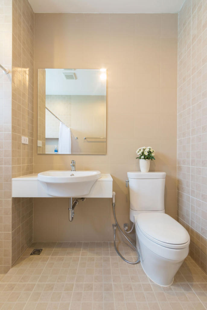 A basement bathroom may be simple or more elaborate, depending upon your taste.